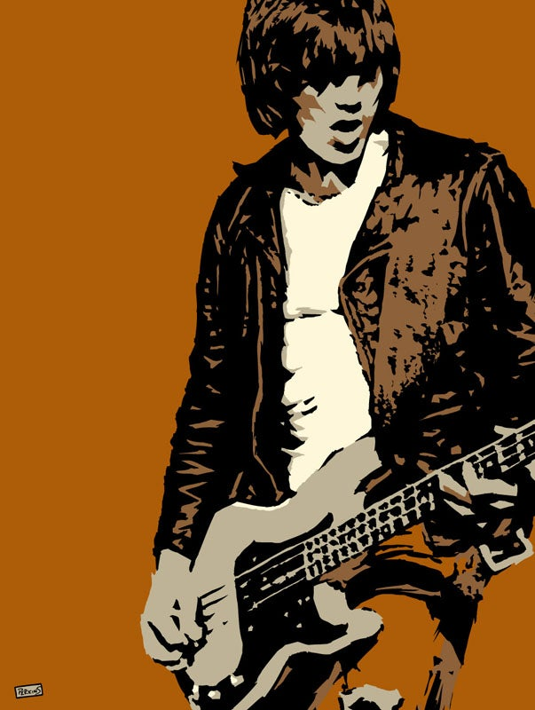 "Image of ""Perkins 77"" Art Print Series - Dee Dee Ramone #7706"