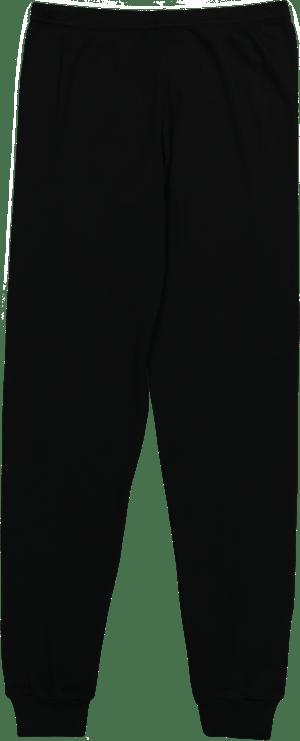Image of Black heart pointelle V neck top