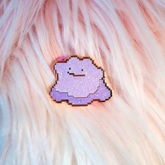 Image of Glitter Blob Enamel Badge