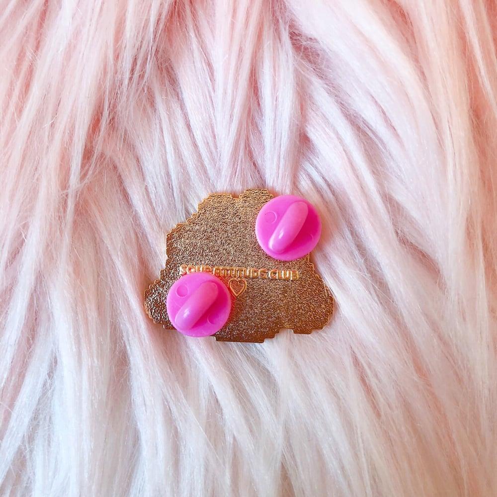 Image of Glitter Blob Enamel Badge