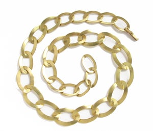 Image of Graduated Curb Link Necklace