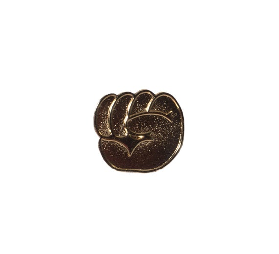 Image of Gold Emoji Fist Pin