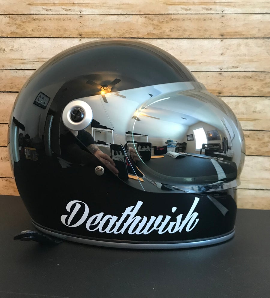 Image of Deathwish Helmet Sticker