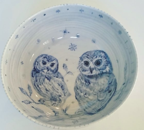 Image of Porcelain Owl Bowl