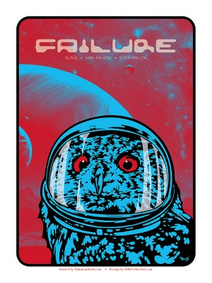 Image of Failure - Space Owl art print and gig poster