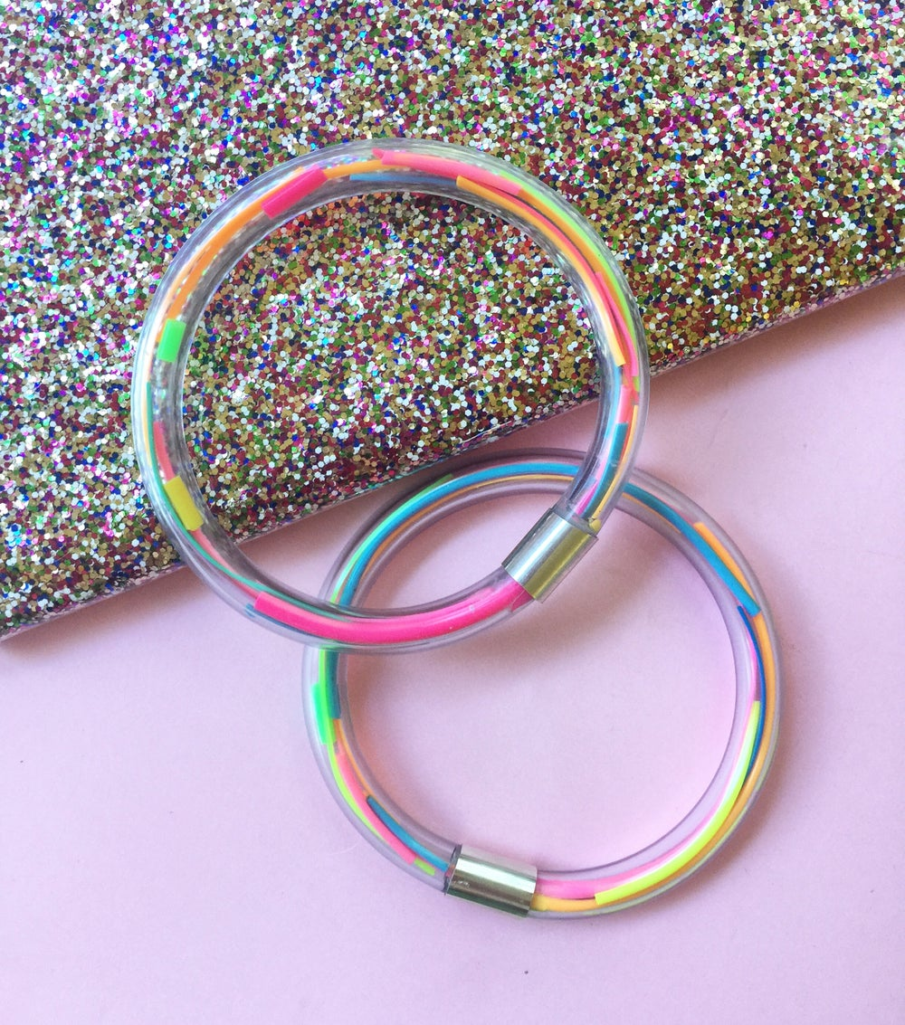 Image of confetti bangles - with silver 925