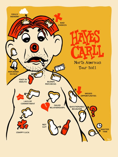 Image of Hayes Carll - 2011 tour poster