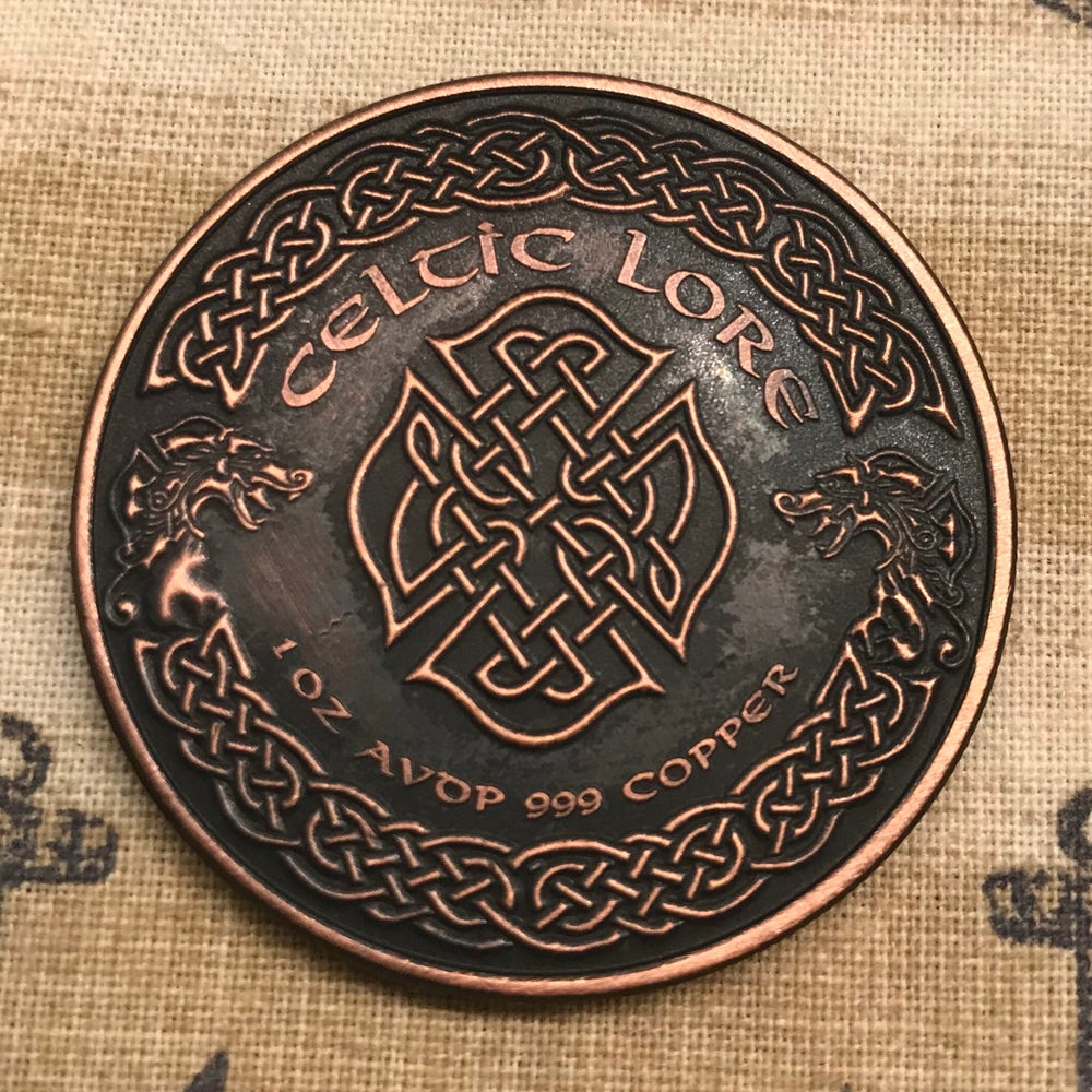 Image of Merlin 1oz Copper Challenge Coin