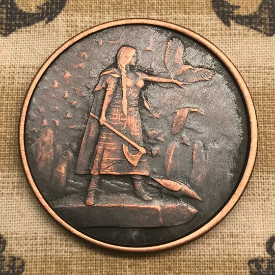 Image of The Morrigan 1oz Copper Challenge Coin