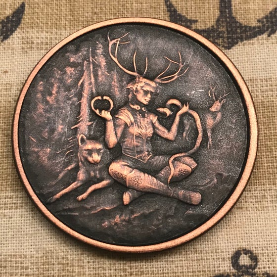 Image of Cernunnos 1oz Copper Challenge Coin
