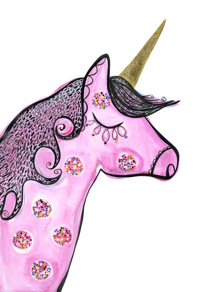 Image of Wilhelmina Unicorn print