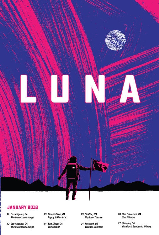Image of Luna 2018 Tour Poster