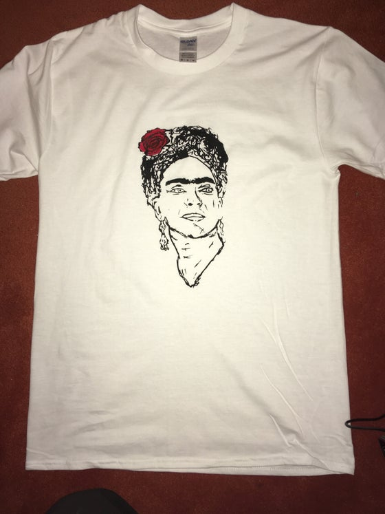 Image of Frida hand finished t shirt