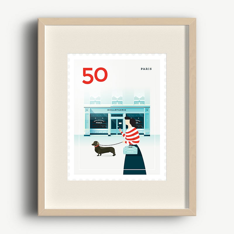 Image of Art Print – Stamp / Paris