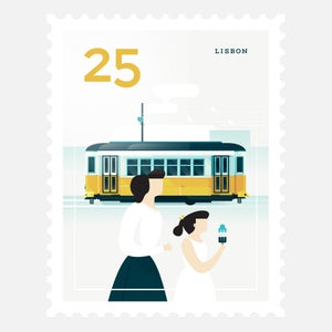 Image of Mini Art Print – Stamp / Lisbon