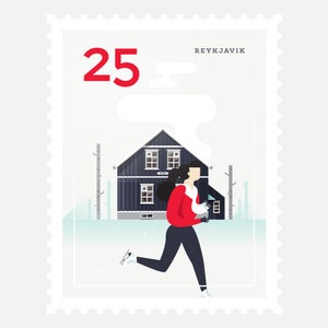 Image of Mini Art Print – Stamp / Reykjavik