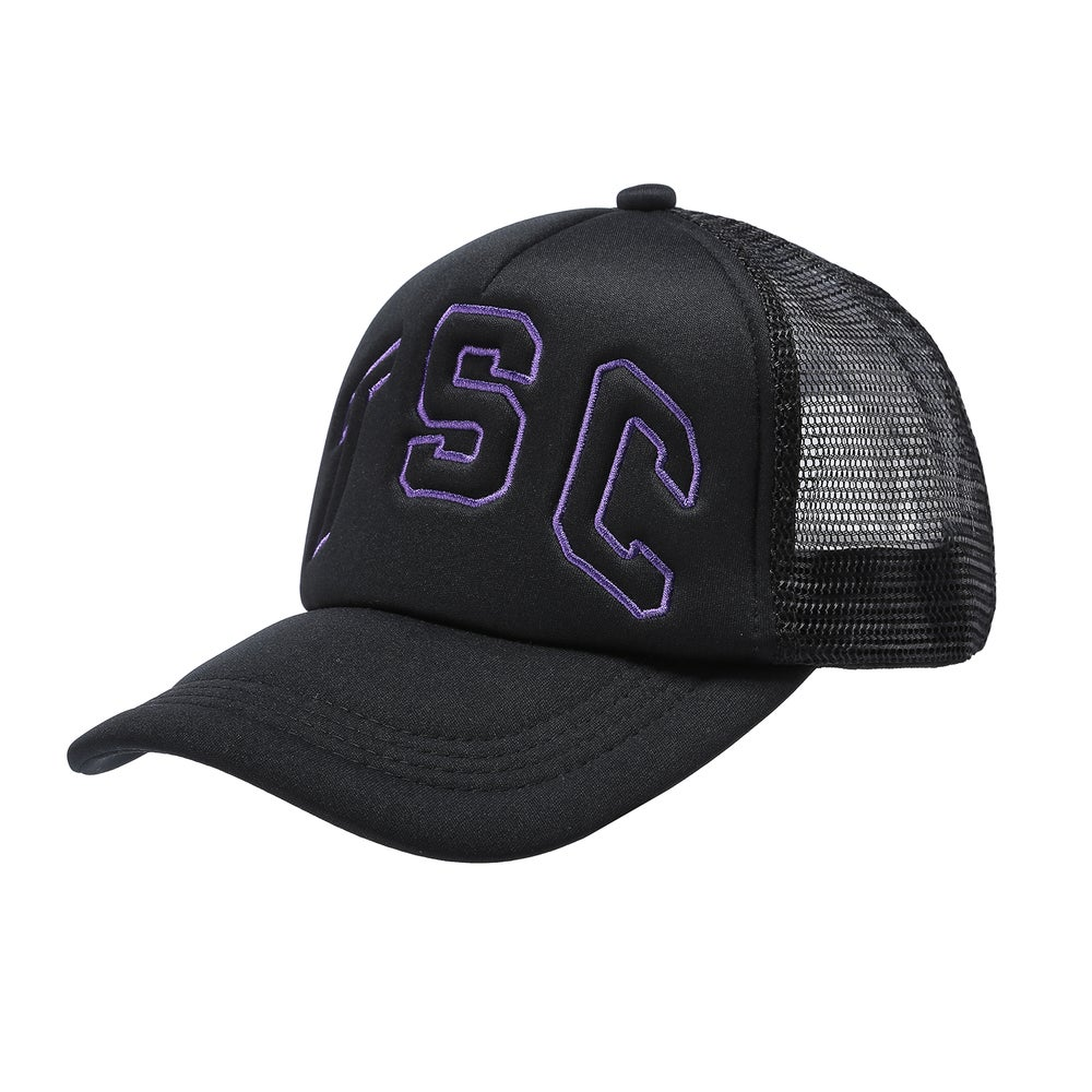 Image of TSC Trucker Cap (Black/ Purple)