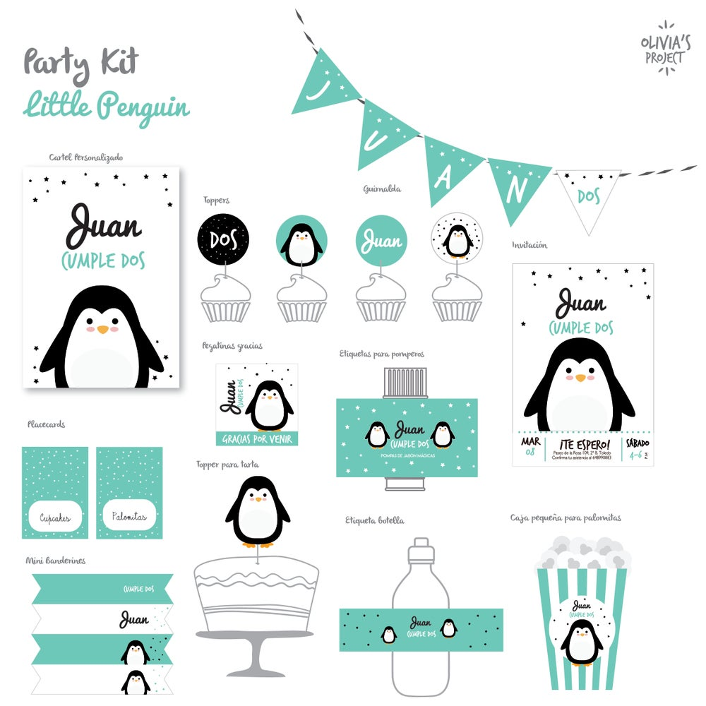 Image of Party Kit Little Penguin Impreso