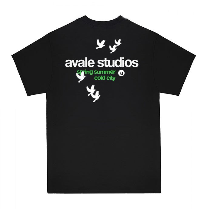 Image of Birds T-shirt (Black)