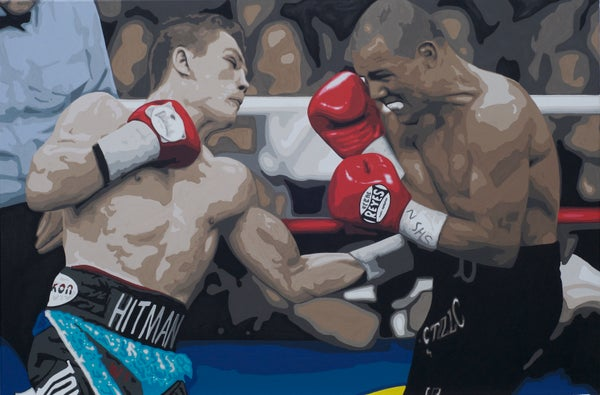 Image of THE HITMAN (3X2ft canvas print)