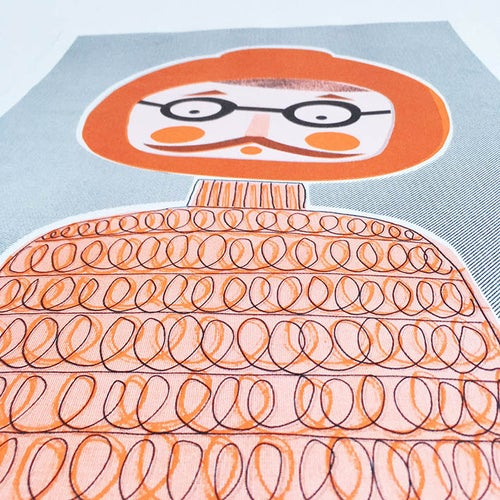 Image of A3 Riso Print - Burt The Explorer