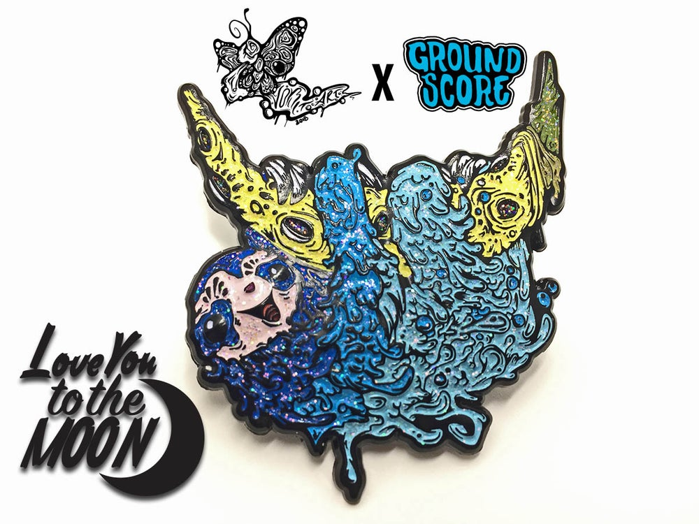 Image of Vomitart - Love You to the Moon 3D Pin (LE 50)