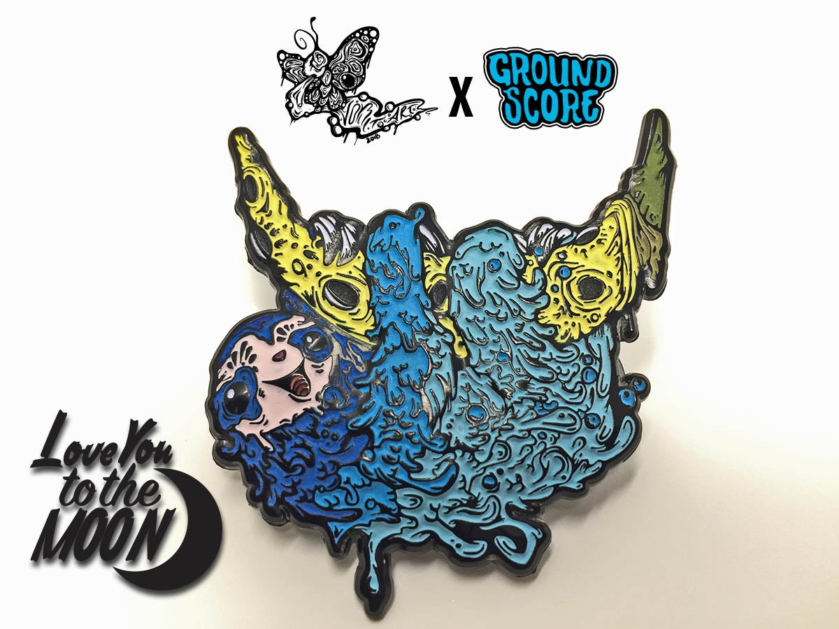 Vomitart - Love You to the Moon 3D Pin (LE 75)