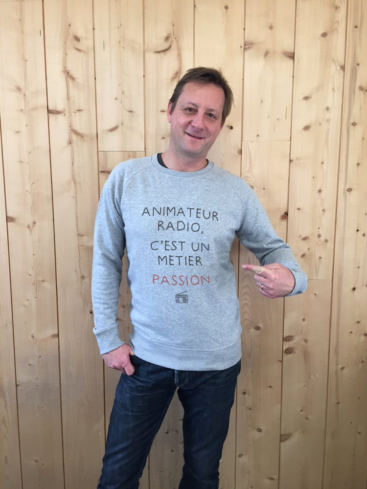 Image of Sweat-shirt Gris - ANIMATEUR RADIO, C'EST UN METIER PASSION