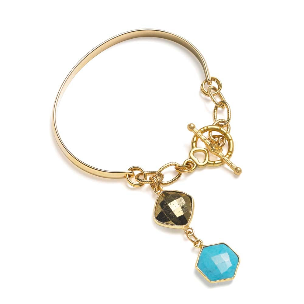 Image of HEXAGON CHARM BRACELET