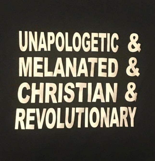 Image of WOMEN'S & MEN'S UNAPOLOGETIC TSHIRT IN BLACK/WHITE