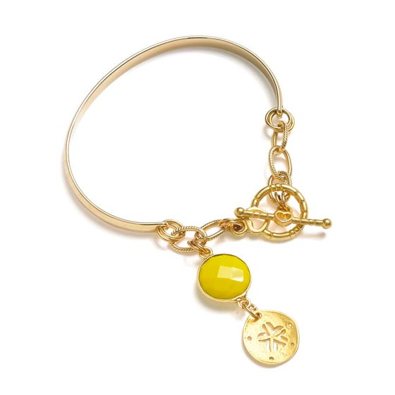 Image of SUN AND SEASHELL CHARM BRACELET