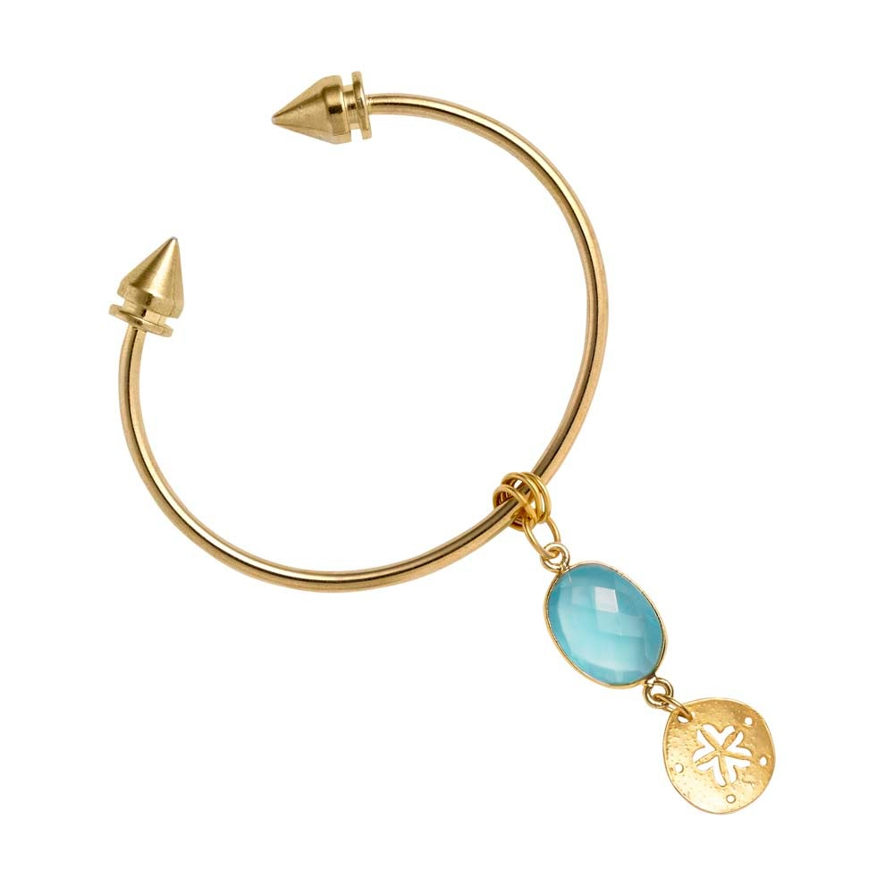 Image of SUN, SEA & SPIKE BANGLE BRACELET