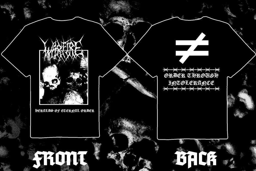 "Image of WARFIRE "" Heralds of Eternal Order"" double sided short sleeve t-shirt"