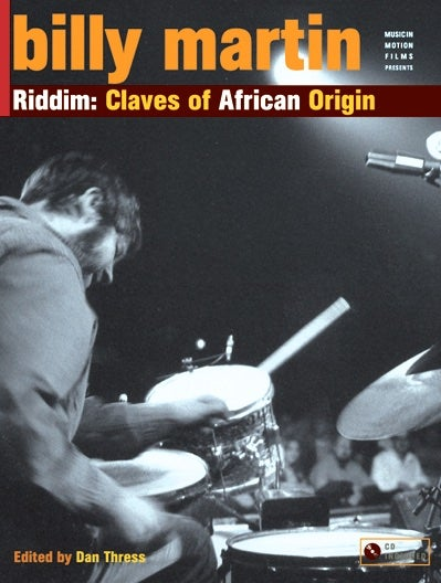 Image of Riddim: Claves of African Origin by Billy Martin. Book & CD.
