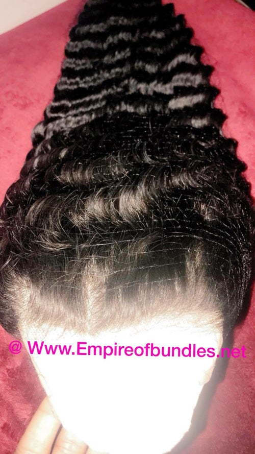 """Image of 8-30""""Lace front deep wave / deep curly/ Kinky curly / Kinky Straight / Loose deep / Loose Wave"""