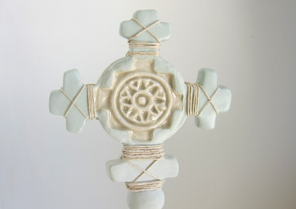 Image of mint green cross