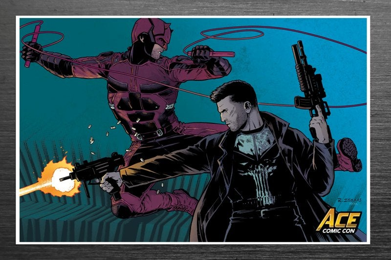 Image of Rebekah Isaacs / Daredevil/Punisher Signed Print (Ace Con Long Island Official VIP Print)