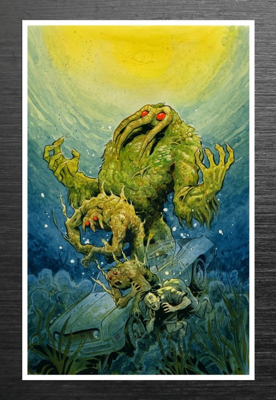 Image of Tyler Crook / Signed Man-Thing Print