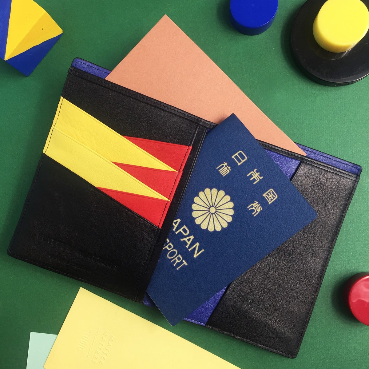 Image of BAUHAUS PASSPORT WALLET - BLACK