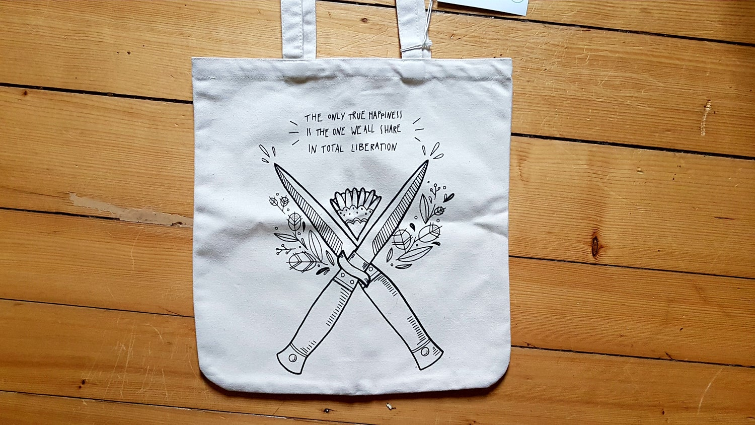 "Image of Jutebeutel | Tote bag ""Total Liberation"" (Design by Daisy Lotta) 