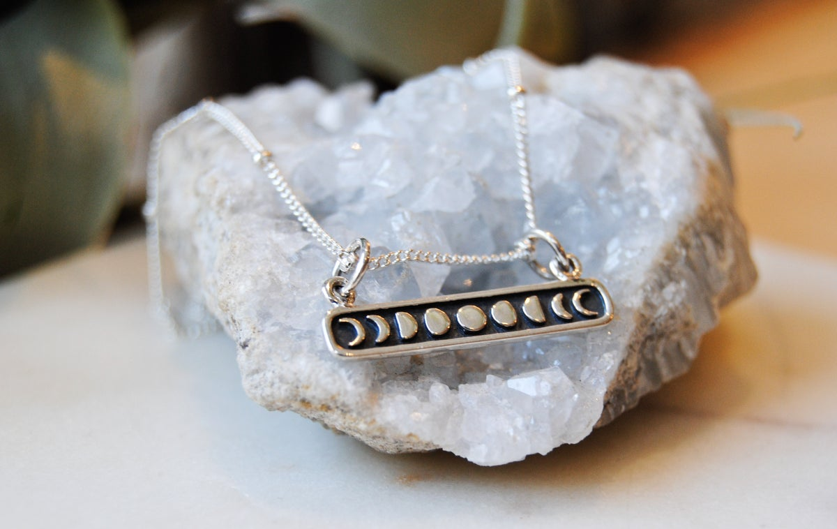 Image of Moon phases bar Necklace