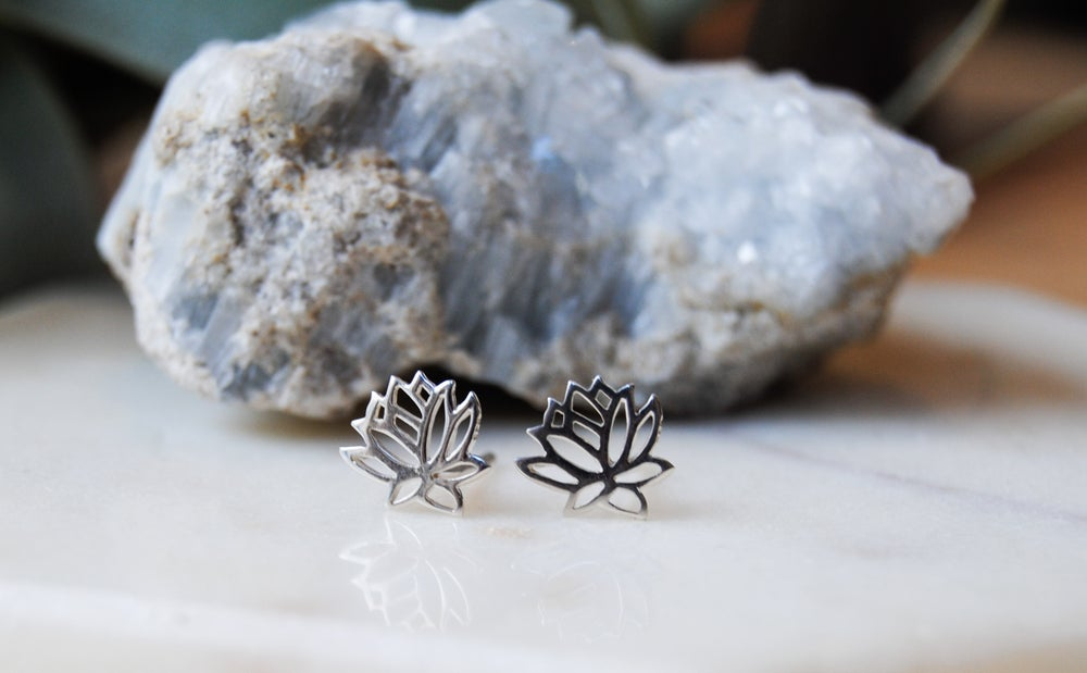 Image of Lotus stud earrings