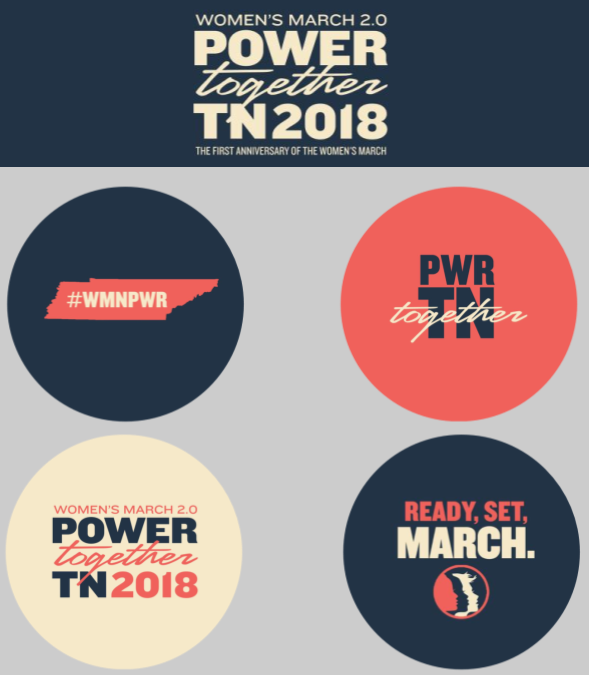 Image of TN Power Together 4-Button Pack