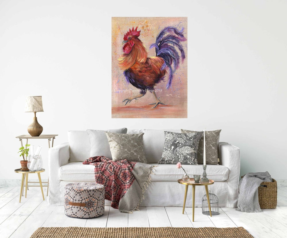 Image of CORNELIUS THE COCKEREL, CHUNKY CANVAS WRAPS