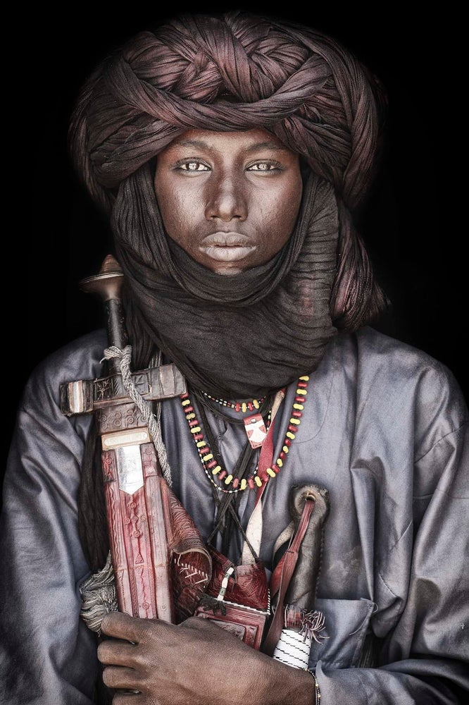 Image of *** NEW ARRIVAL***   Fine ART Wallhanging Fulani Boy