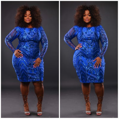 Blue Ice - Plus Size Fashionz
