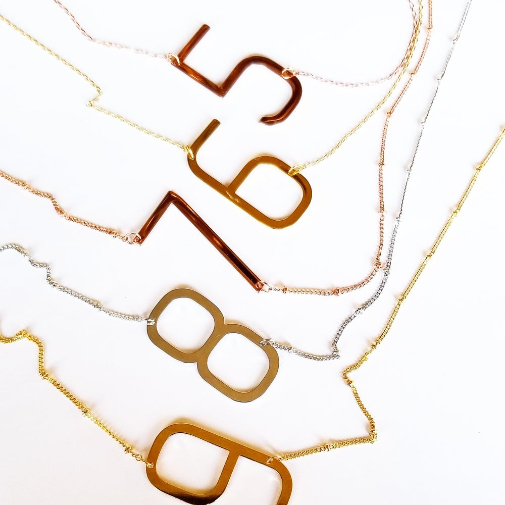 Image of Large Number Necklace