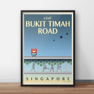 Image of Bukit Timah Road Vintage-Style Travel Poster