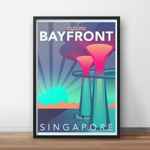 Image of Bayfront Vintage-Style Travel poster