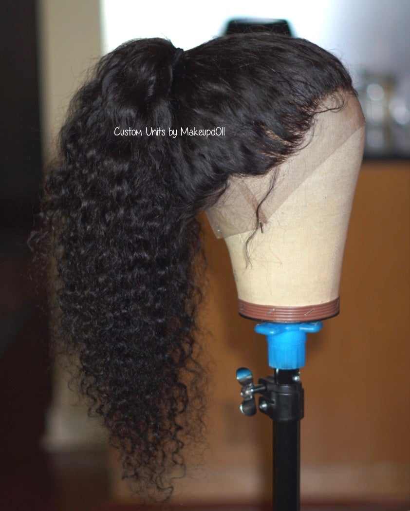 "Image of Indian Wavy/Curly 22"" Custom 360 Lace Frontal Wig!"